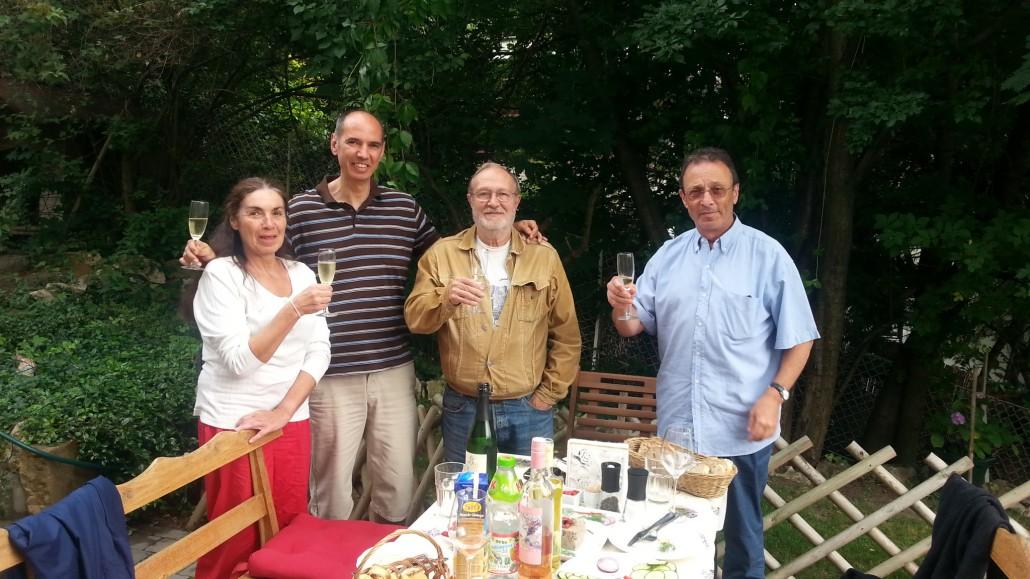 A koccintók: Eszéki Erzsó, Juszku Kálmán, Árpi bácsi, Betlen János
